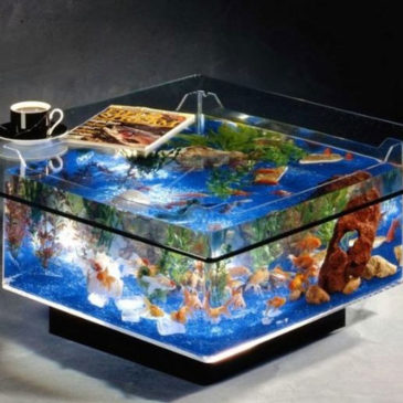 Marine Aquarium Glass Coffee Table
